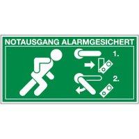 Entriegelung Türwächter rechts - Kennzeichnung für Türwächter