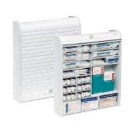 ROLLO Erste-Hilfe-Schränke, Kunststoff, befüllt, DIN 13157