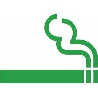 Rauchen erlaubt - Piktogramm aus Folie, selbstklebend,  ISO 7001