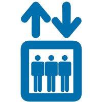 Aufzug - Piktogramm aus Folie, selbstklebend,  ISO 7001