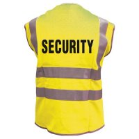 SECURITY - Warnwesten mit Standardtext, EN ISO20471:2013