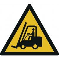 Warnung vor Flurförderzeugen - Warnzeichen zur Bodenmarkierung