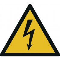 Warnung vor elektrischer Spannung - Warnzeichen zur Bodenmarkierung