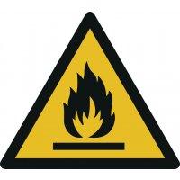 Warnung vor feuergefährlichen Stoffen - Warnzeichen zur Bodenmarkierung