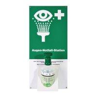 Augen-Notfall-Station mit Bestellhinweis