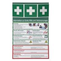 Sicherheitsinformationen für Erste Hilfe und Verbrennungen