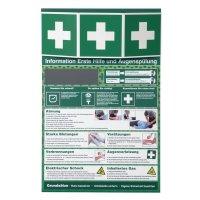 Sicherheitsinformationen für Erste Hilfe und Augenspülungen
