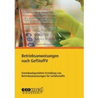"""CD-ROM """"Betriebsanweisungen nach GefStoffV"""" für Arbeitssicherheit und Gesundheitsschutz"""