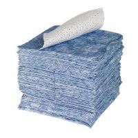 Ölbindende Rollen und Tücher, blau