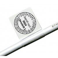 Geprüft nach DGUV V3, weiß - Kabelprüfplaketten