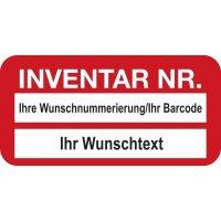 EasyMark® Inventaretiketten mit Text und Nummerierung nach Wunsch