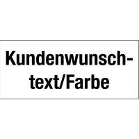 Etiketten mit Text und Farbe nach Wunsch, beschriftbar, auf Karten