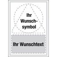 Kombi-Schilder mit Symbol und Text nach Wunsch, ISO 7010