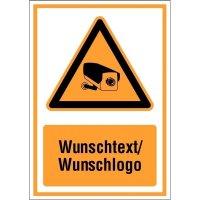 Kombi-Schilder Videoüberwachung mit Text und Design nach Wunsch