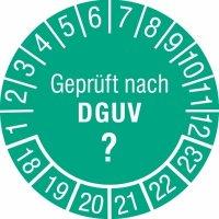 Prüfplaketten mit individuellem DGUV-Zahlenschlüssel