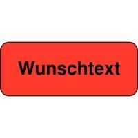 Rollen-Etiketten mit Text nach Wunsch, rechteckig, Papier, fluoreszierend
