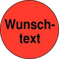 Rollen-Etiketten mit Text nach Wunsch, rund, Papier, fluoreszierend