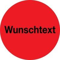 Rollen-Etiketten mit Standard-Text nach Wunsch, rund, Papier, fluoreszierend