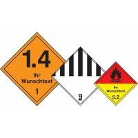 Transportaufkleber für gefährliche Güter, individuell