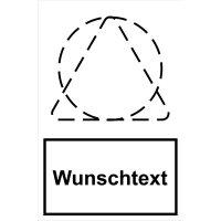 Warnaufsteller mit Sicherheitskennzeichnung - Text und Symbol nach Wunsch