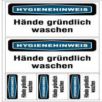 Hygiene-Focus-Etiketten, Virenschutz
