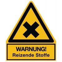 Warnung! Reizende Stoffe - Warnsymbol-Kombischilder für Gefahrstoffe