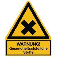 Warnung! Gesundheitsschädliche Stoffe - Warnsymbol-Kombischilder für Gefahrstoffe