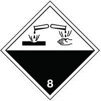 Ätzende Stoffe 8 - Gefahrzettel-Schilder zum Transport von Gefahrgut, Aluminium, ADR, RID, IMO, IATA, GGVSE, IMDG