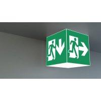 LED Würfel-Notleuchte aus Kunststoff