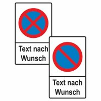 """Parkverbotsschilder - """"Haltverbot"""" mit Symbol und Text nach Wunsch"""