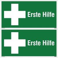 Erste Hilfe - Erste-Hilfe-Fahnen-, Decken- und Winkelschilder, EN ISO 7010