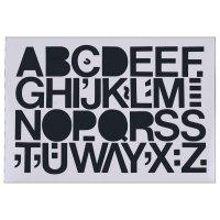 Großbuchstaben-Aufkleber auf Einzelkarten, selbstklebend