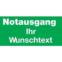 Hinweisschilder für Sicherheitstüren mit Text nach Wunsch, praxiserprobt