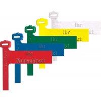 Rohr- und Kabelkennzeichnungsschlaufen mit Prägung nach Wunsch, farbig