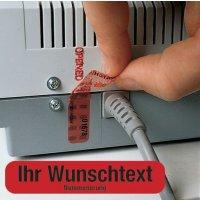 Sicherheits-Siegel mit Text und Nummerierung nach Wunsch, mit Übertragungsschutz