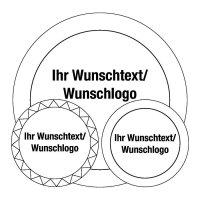 Rund-Siegel mit Text und Logo nach Wunsch