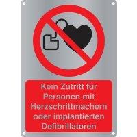 Kein Zutritt für Personen mit Herzschrittmachern - Kombischilder Premium Deluxe, EN ISO 7010