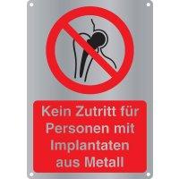 Kein Zutritt für Personen mit Implantaten aus Metall - Kombischilder Premium Deluxe, EN ISO 7010