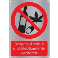 Drogen, Alkohol und Medikamente verboten - Kombischilder Premium Deluxe, EN ISO 7010