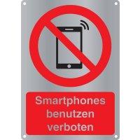 Smartphones benutzen verboten - Kombischilder Premium Deluxe, EN ISO 7010