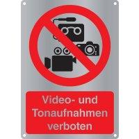 Video- und Tonaufnahmen verboten - Kombischilder Premium Deluxe, EN ISO 7010