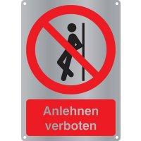 Anlehnen verboten - Kombischilder Premium Deluxe, EN ISO 7010