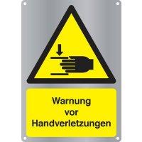 Warnung vor Handverletzungen - Kombischilder Premium Deluxe, EN ISO 7010