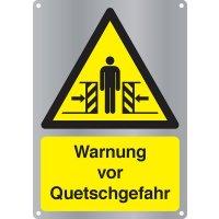 Warnung vor Quetschgefahr - Kombischilder Premium Deluxe, EN ISO 7010