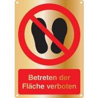 Betreten der Fläche verboten - Kombischilder Premium Deluxe, EN ISO 7010