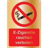 E-Zigarette rauchen verboten - Kombischilder Premium Deluxe, EN ISO 7010