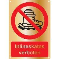 Inlineskates verboten - Kombischilder Premium Deluxe, EN ISO 7010