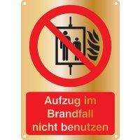 Aufzug im Brandfall nicht benutzen - Kombischilder Premium Deluxe, EN ISO 7010