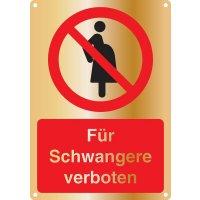 Für Schwangere verboten - Kombischilder Premium Deluxe, EN ISO 7010