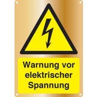 Warnung vor elektrischer Spannung - Kombischilder Premium Deluxe, EN ISO 7010